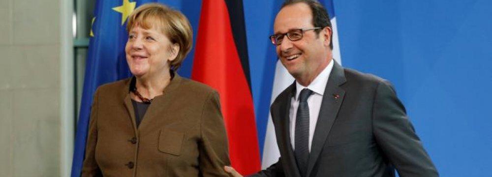 Merkel, Hollande Back Extension of Sanctions on Russia