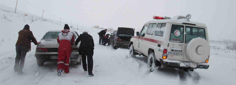 Blizzard in  3 Provinces