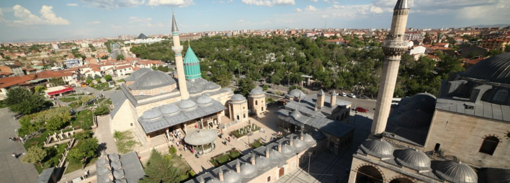 Tomb of Rumi (Molana in Persian) in Konya is a major attraction for Iranian tourists.