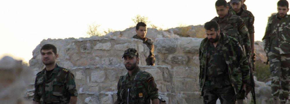 Syrian Army forces in Aleppo