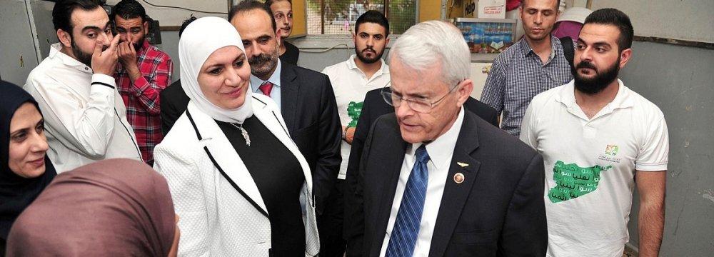 Senator Richard Black visited Homs and Damascus in April.