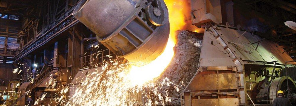 Iran's steelmaking capacity utilization rate is little over 60%.