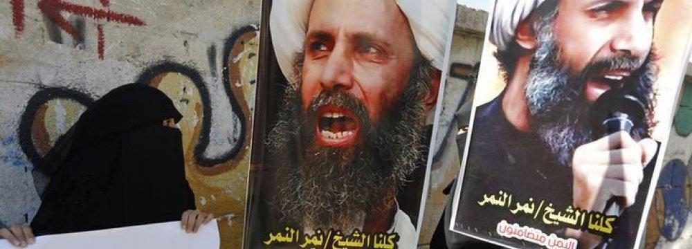 Tehran Denounces Sheikh Nimr's Execution