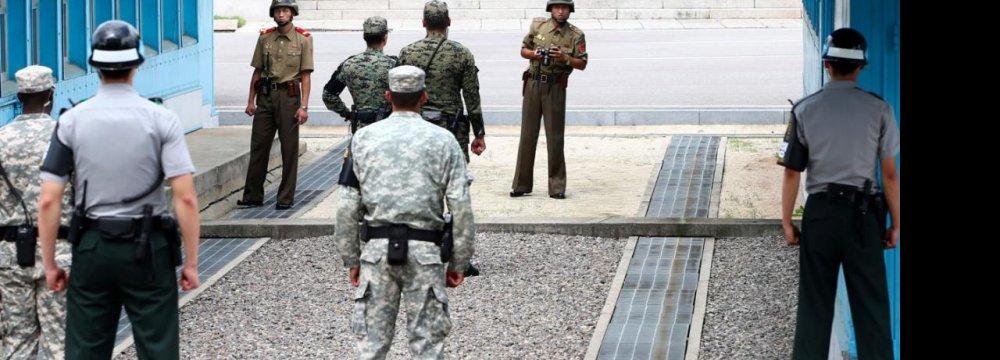 Tension  on Border  of 2 Koreas
