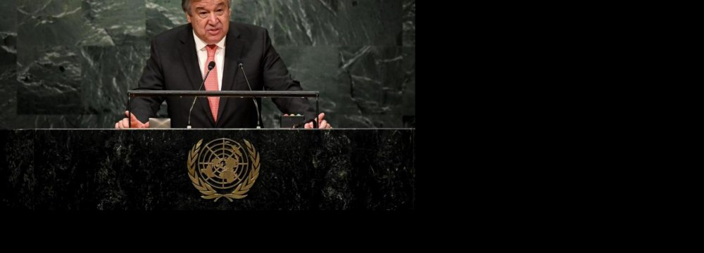 New UN Chief Calls on World to Unite for Peace