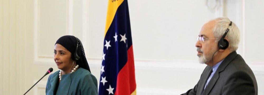 Zarif Underlines Common Stances With Venezuela