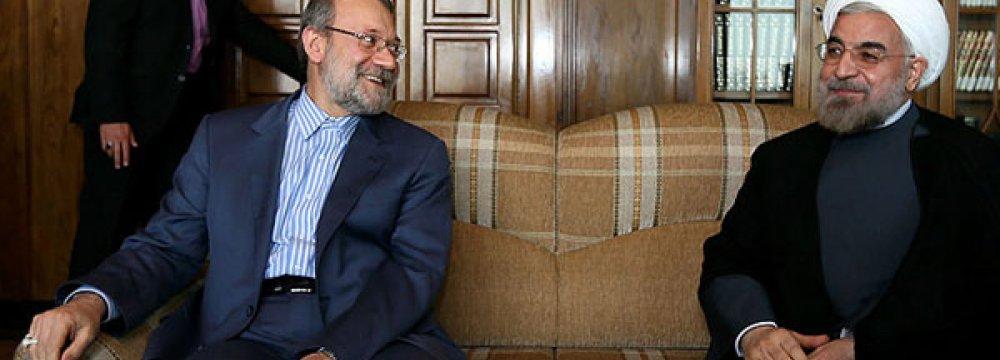Larijani Defends Postponement  of President's Austria Visit