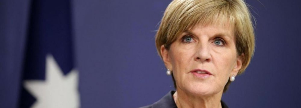 Australian FM to Discuss Missiles, Rights With Zarif