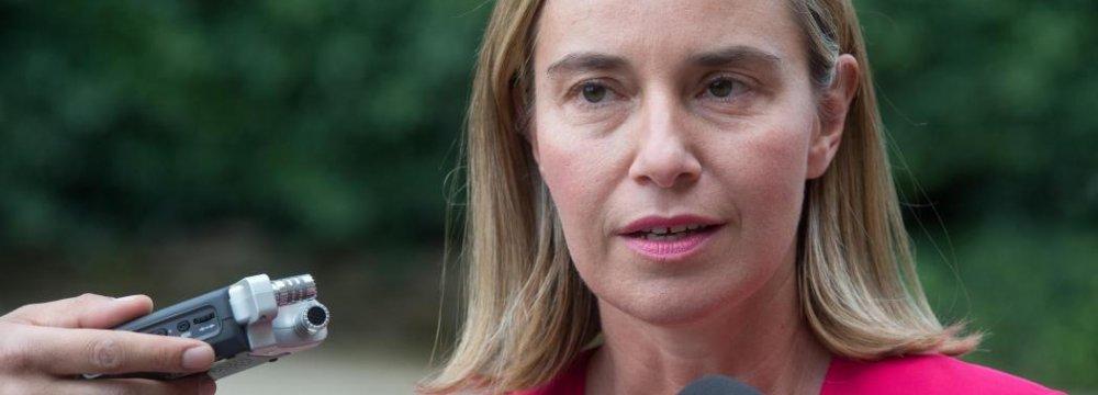 Mogherini: JCPOA Benefits Iran's Neighbors
