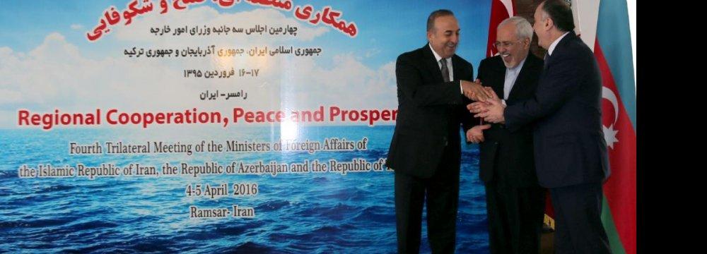 Tehran, Baku, Ankara Hold Multifaceted Talks