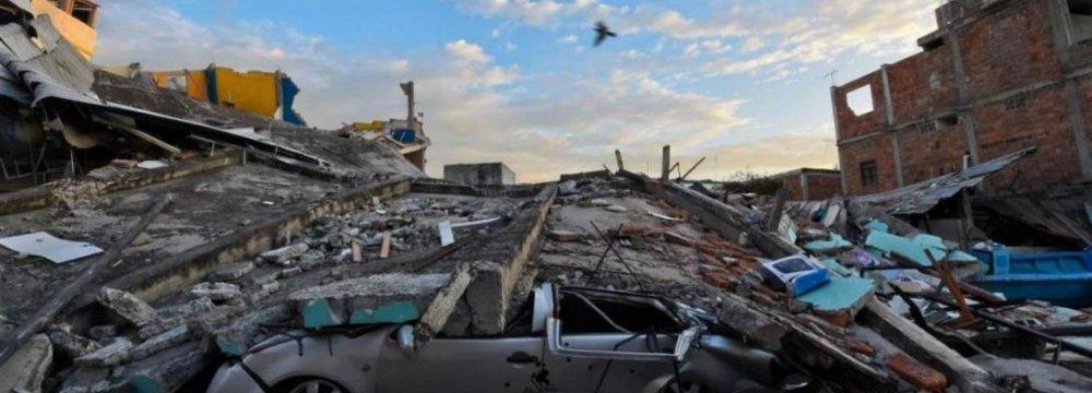 Ecuador Quake Deaths Rise to 272
