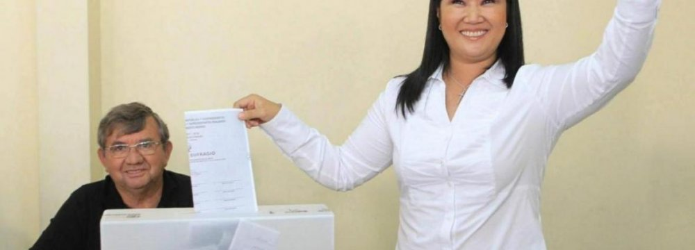 Keiko Fujimori Headed for Runoff  in Peru Presidential Election