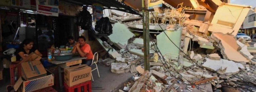 Strong Quake Strikes Ecuador Again