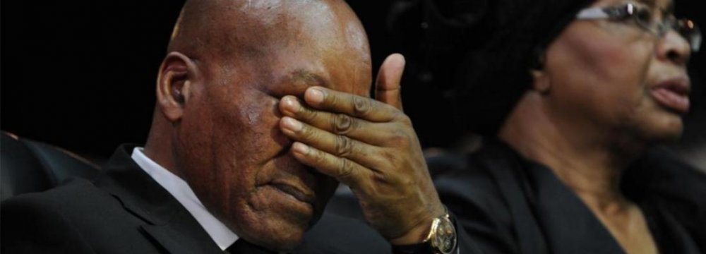 S. Africa's Zuma Faces Impeachment Vote
