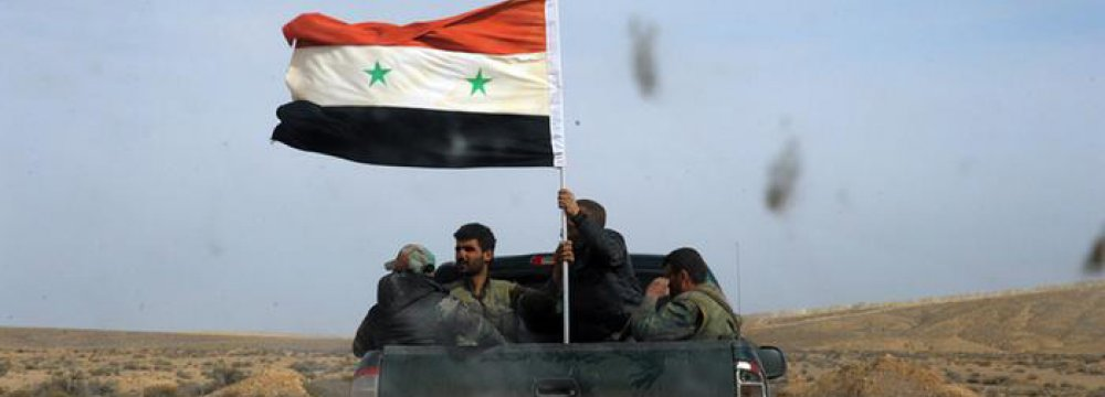 Syrian Army Retakes Al-Qaryatain From IS