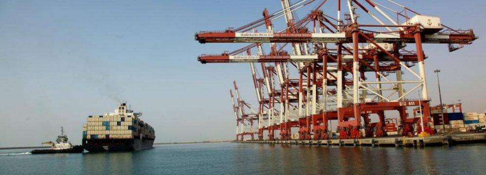 Shahid Rajaei Port Exports More Steel