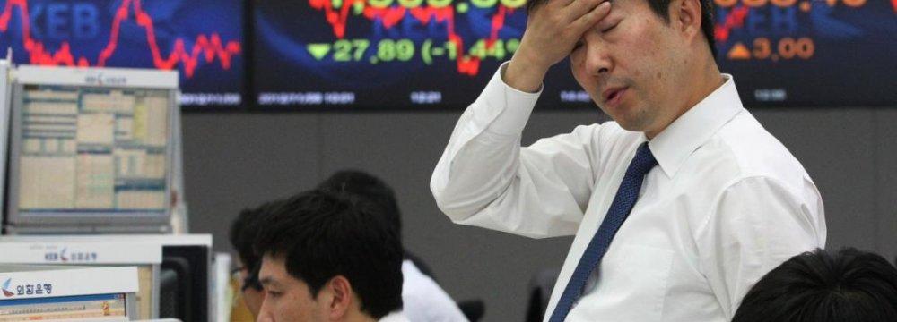 Global Shares Fall on Weak Japan Data