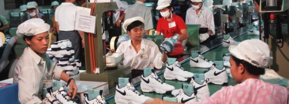 Asian Factories Hit Hard