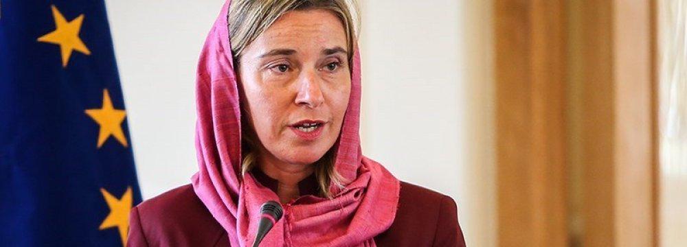 Mogherini: Nuclear Deal Enforcement  in European Interest