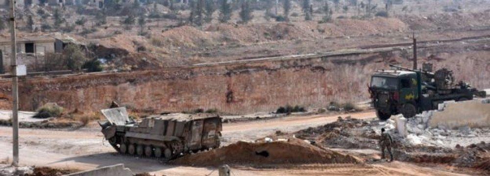 Militants Pushed Back by Assad's Forces