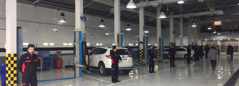 New Toyota Service Center in W. Tehran