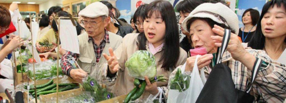 Japan CPI Declining