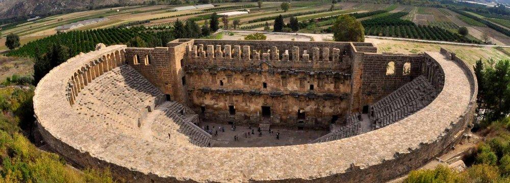 Aspendos Amphitheater in Antalya, Turkey