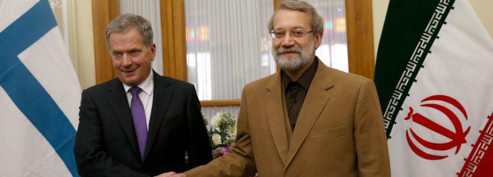 Larijani: EU Can Help Defuse Syria Crisis