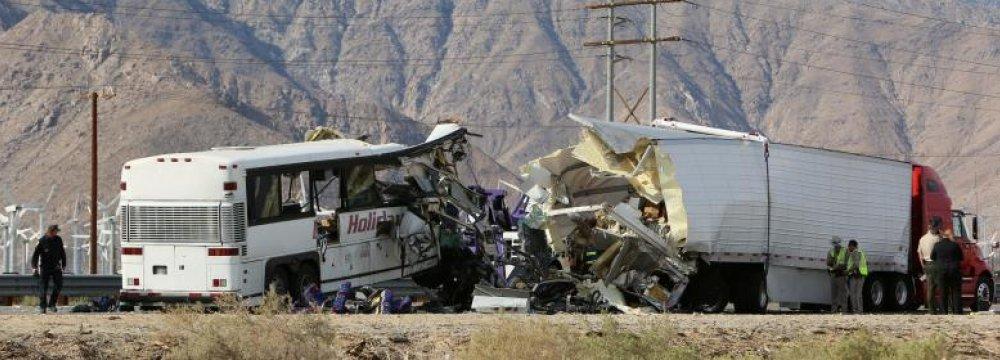 13 Killed in California Bus Crash