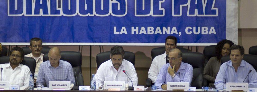 Colombia, FARC Resume Peace Talks