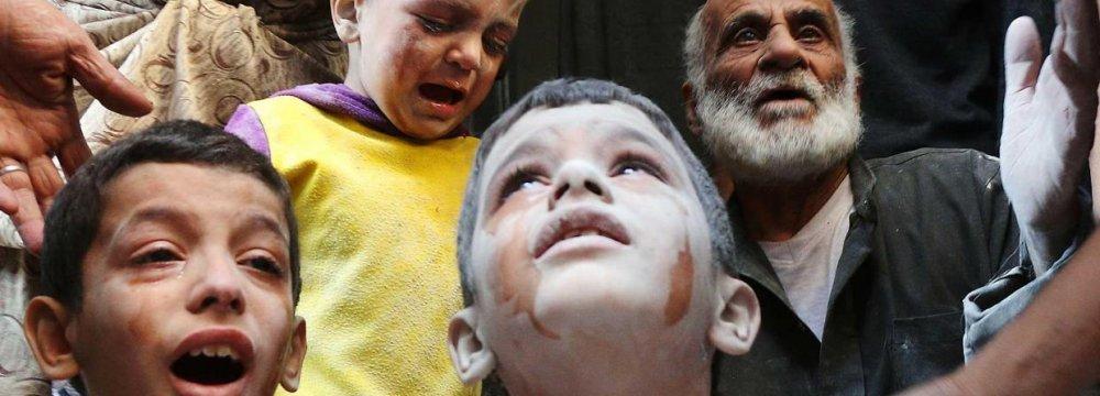Militants Kill Children at  Aleppo School