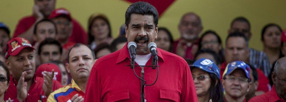 Venezuela's Maduro Threatens Political Opponents With Jail