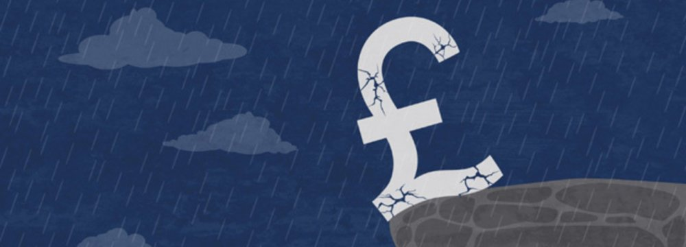 The falling pound will benefit the UK by stimulating inflation.