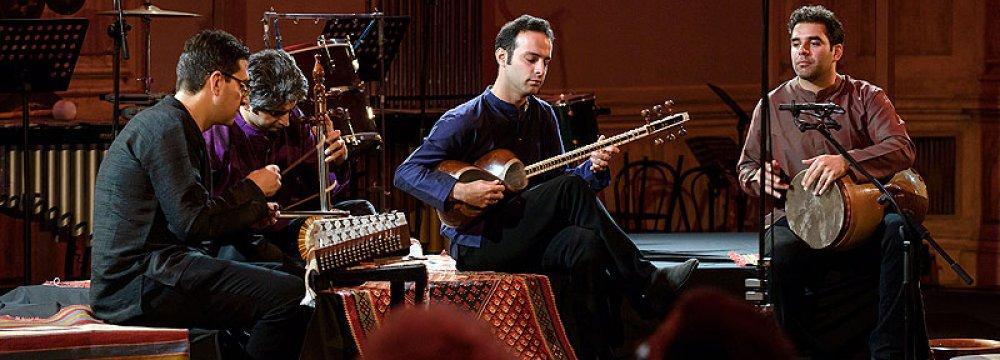 Members of Mehraein Ensemble at Biennale Musica in Venice, October 16