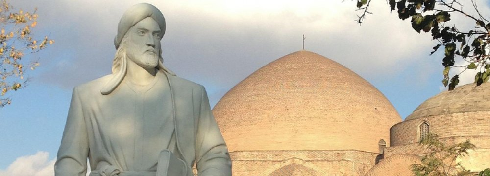 Statue of Khaqani at the park in Tabriz named after him.