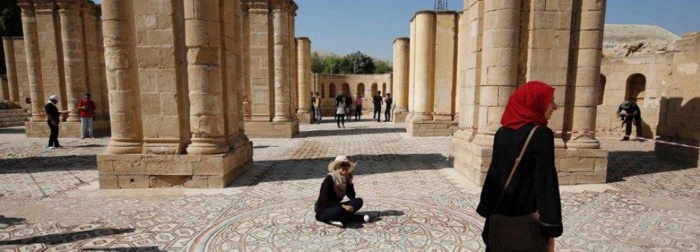 Palestinians Give Rare Glimpse of Jericho Mosaic