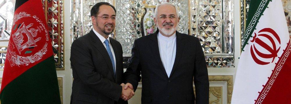 Afghan FM in Tehran