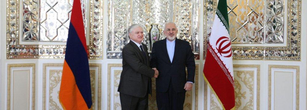 Iran, Armenia Reaffirm Regional Peace