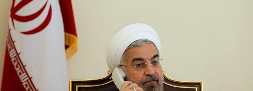 Rouhani, British PM Talk on Phone
