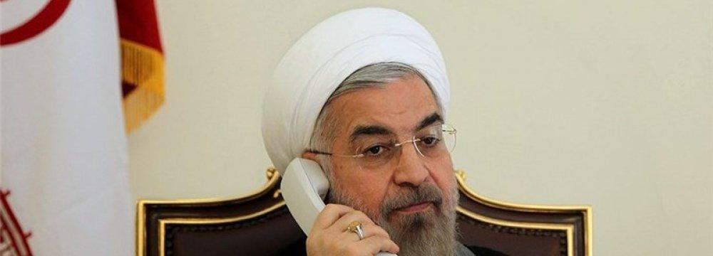 Rouhani, Qatar Ruler Talk on Phone