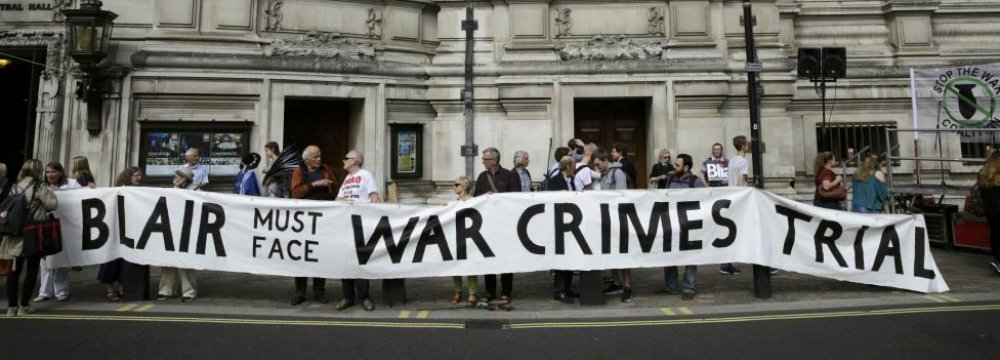 Brits Push for Blair's Trial After Chilcot Report