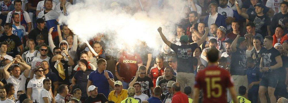 Violence Mars England's Euro 2016 Opener
