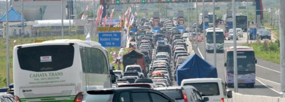 12 Die in Indonesia  Traffic Jam
