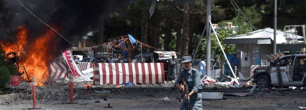 Kabul Suicide Bombing Kills 10