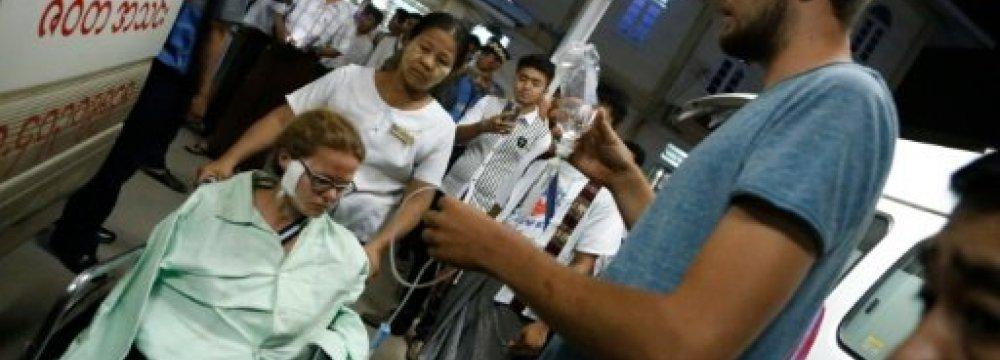 Myanmar Landmine Blast Wounds Tourists