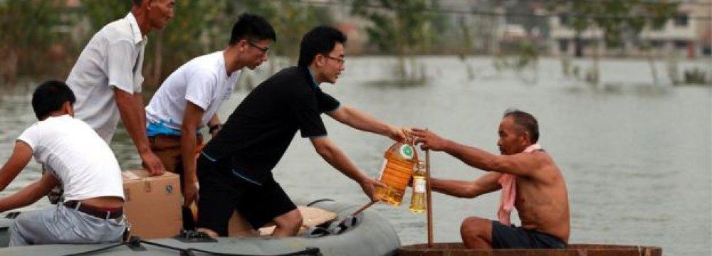 China Floods Kill 150,  Scores Missing