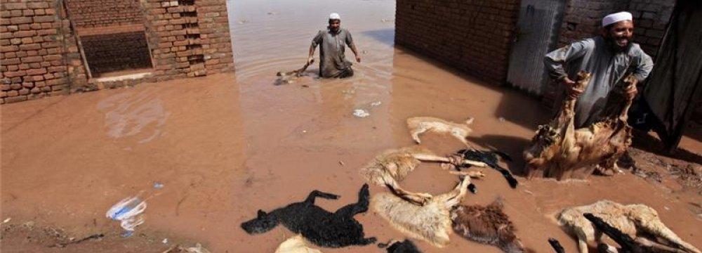 Flash Floods Kill Dozens in Pakistan, India States