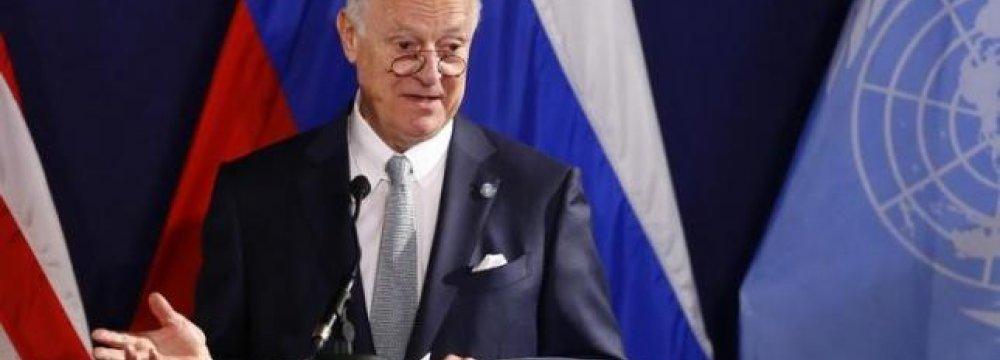 UN Envoy Optimistic About Fresh Syria Peace Talks
