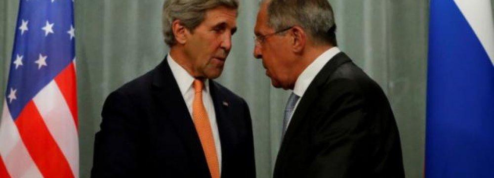 Kerry, Lavrov to Discuss Syria