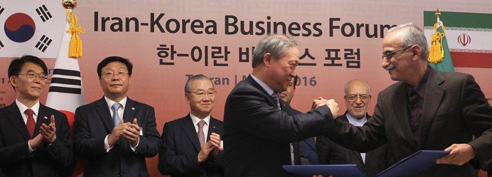 Iranian, S. Korean Businesses Establish Stronger Ties